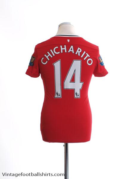 2011-12 Manchester United Home Shirt Chicharito #14 L - 423932-623