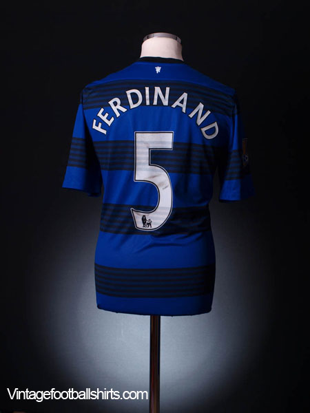 2011-12 Manchester United Match Worn Away Shirt Ferdinand #5