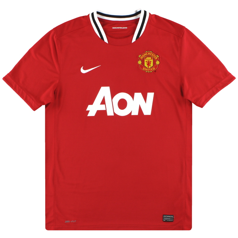2011-12 Manchester United Nike Home Shirt S - 423932-623