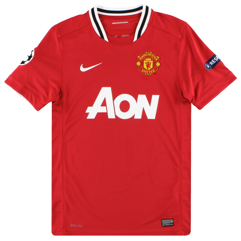 2011-12 Manchester United Nike CL Home Shirt S - 423932-623