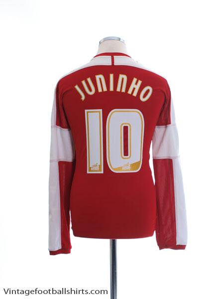 2011-12 Middlesbrough Home Shirt Juninho #10 L/S L - O56903