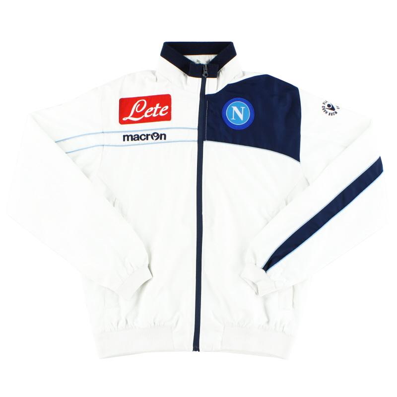 2011-12 Napoli Macron Player Issue Track Jacket XS