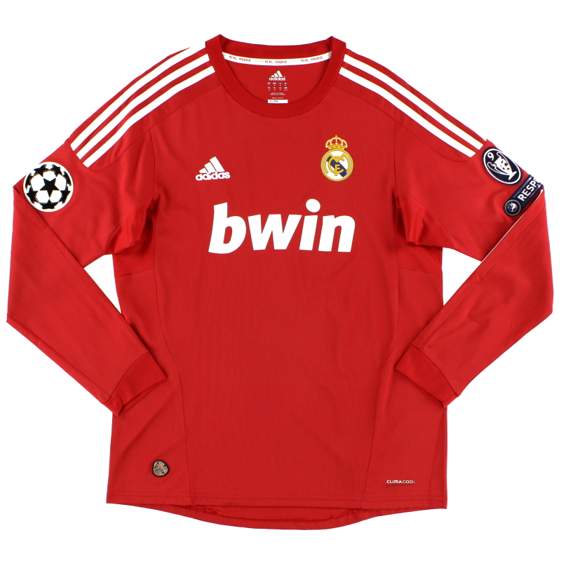 2011-12 Real Madrid Champions League Third Shirt L/S M - P95890