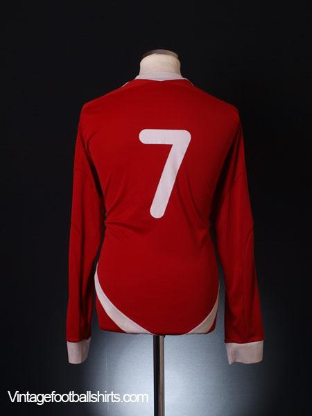 2011-12 Scarborough Athletic Home Shirt #7 L/S L