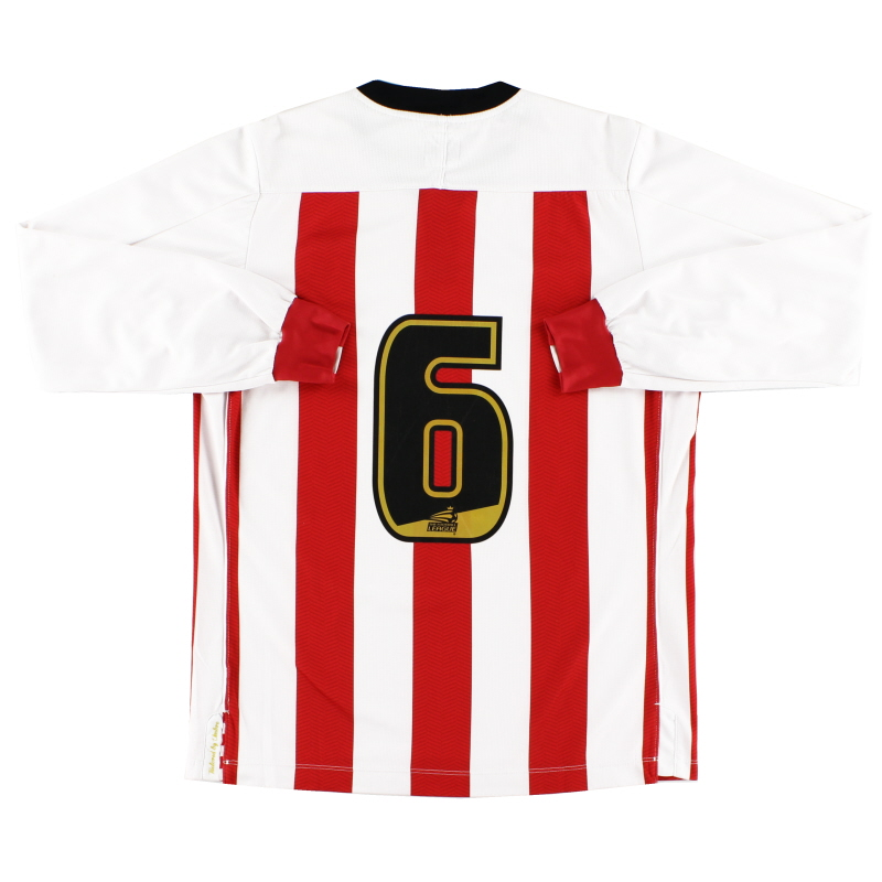 2011-12 Southampton Match Issue Academy Home Shirt #6 L/S S