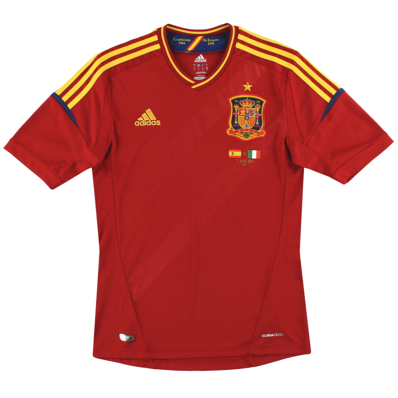 2011-12 Spain adidas Home Special Edition 'Campeones' Signed Shirt S - X10937