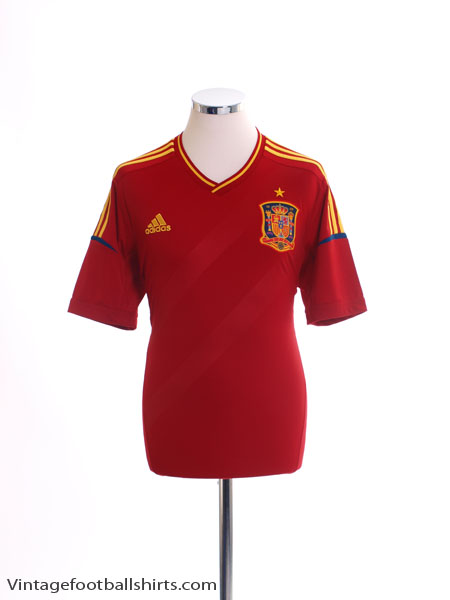2011-12 Spain Home Shirt *Mint* M