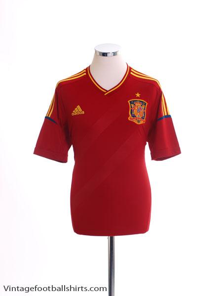 2011-12 Spain Home Shirt S