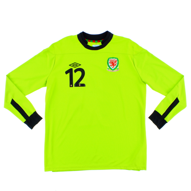 2011-12 Wales Goalkeeper Shirt #12 L