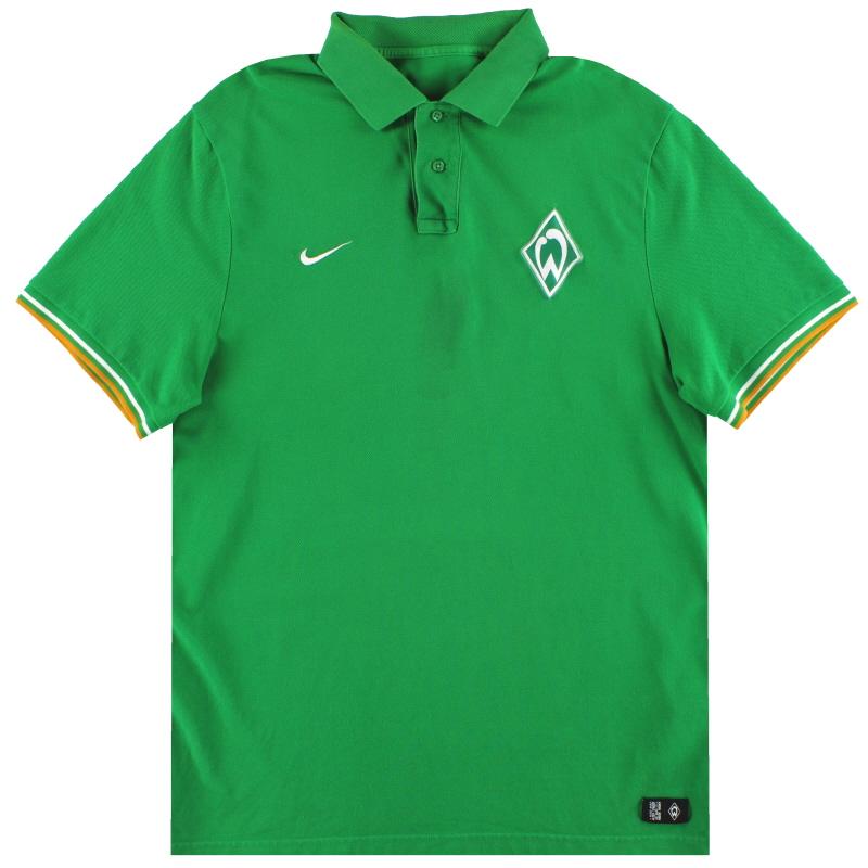 2011-12 Werder Bremen Nike Polo Shirt XL - 419621-383