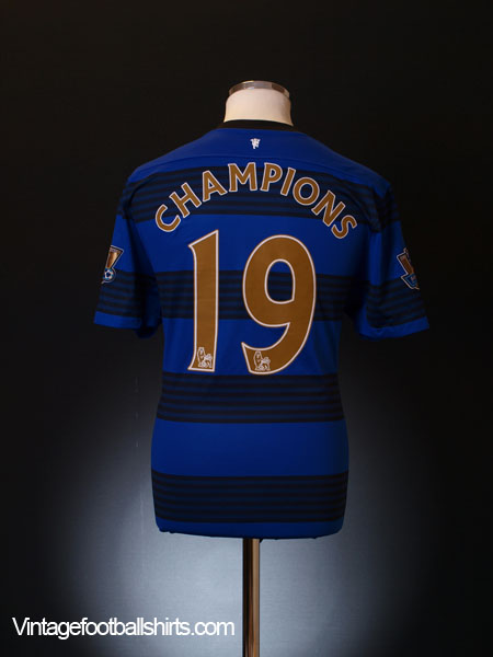 2011-13 Manchester United Away Shirt Champions #19 XL