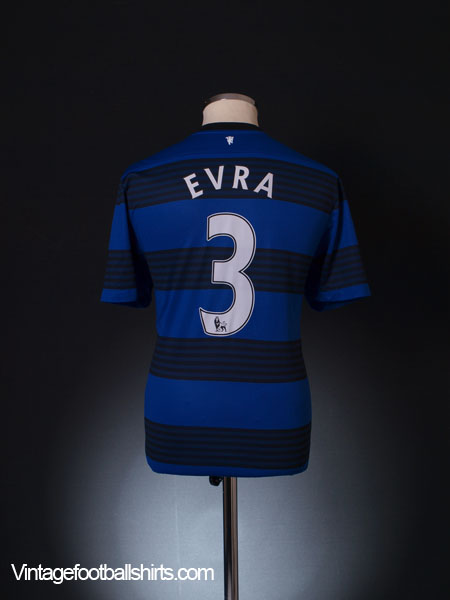 2011-12 Manchester United Away Shirt Evra #3 L