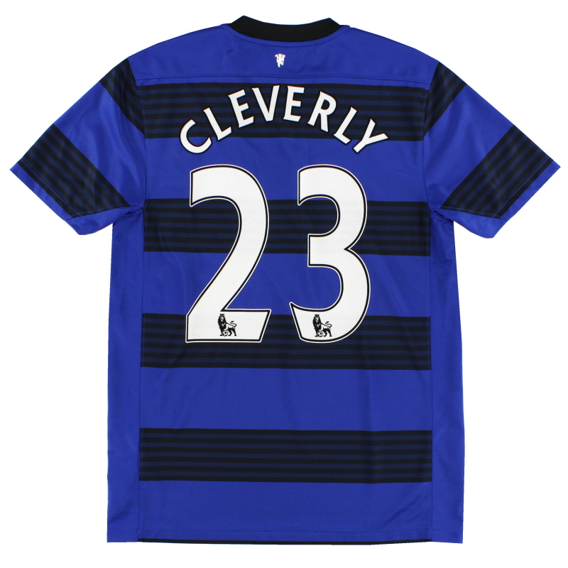 2011-13 Manchester United Away Shirt Cleverly #23 *Mint* M - 423935-403
