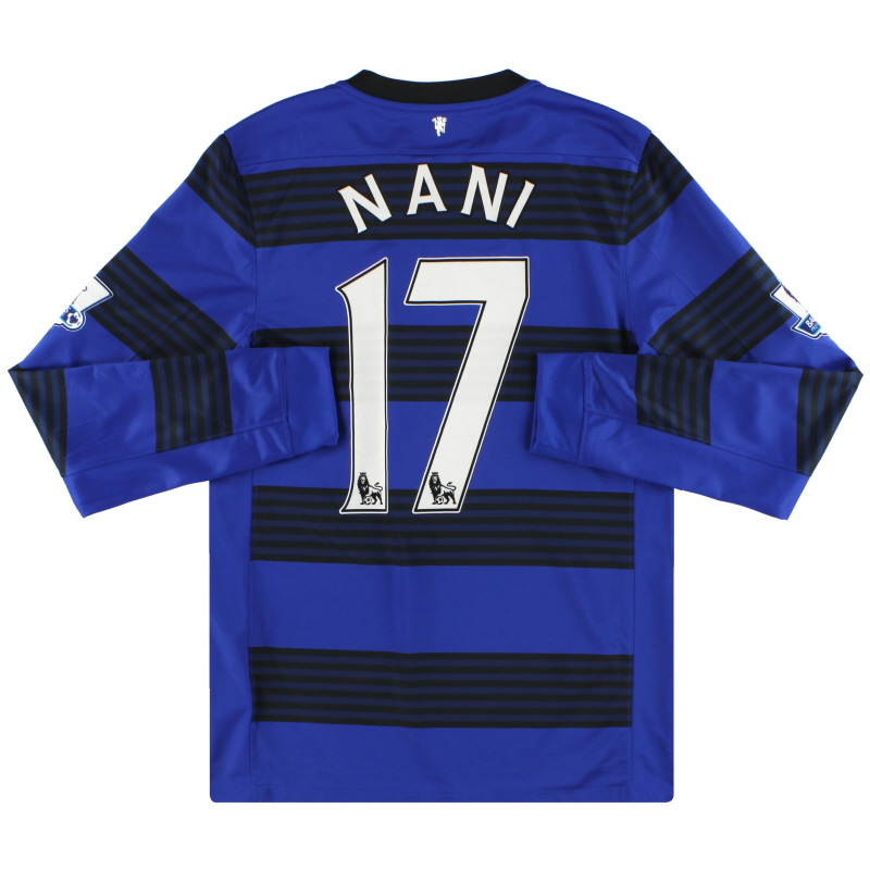 2011-13 Manchester United Nike Away Shirt L/S Nani #17 S  - 423936-403