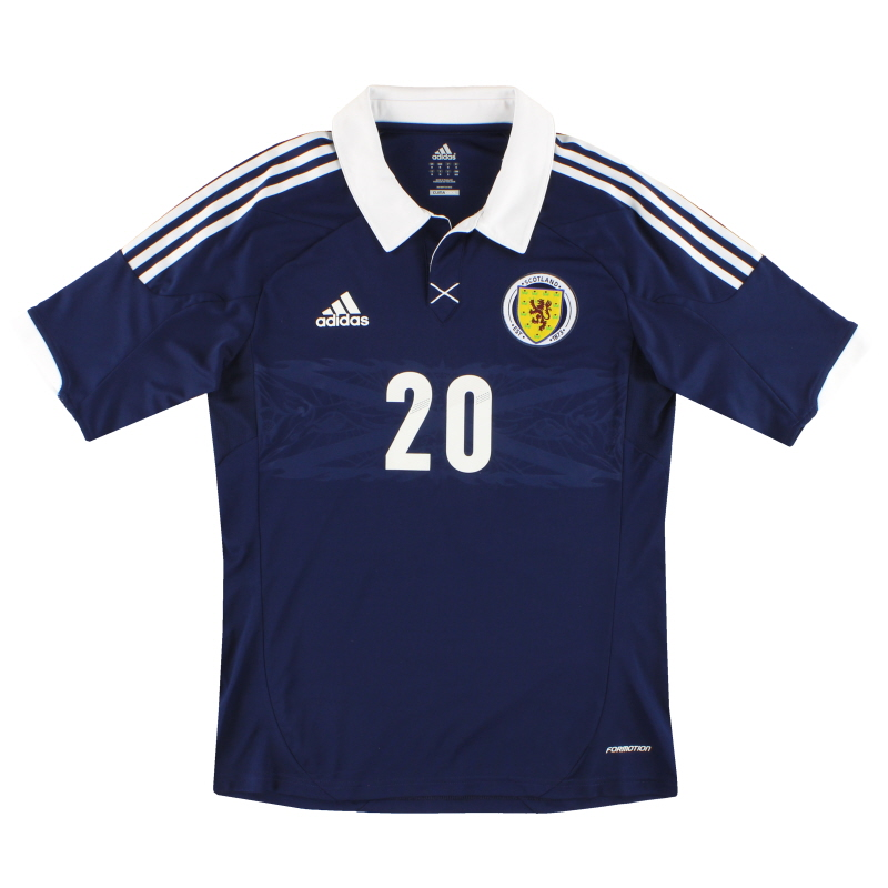 2011-13 Scotland adidas Player Issue Home Shirt #20 M - X11809