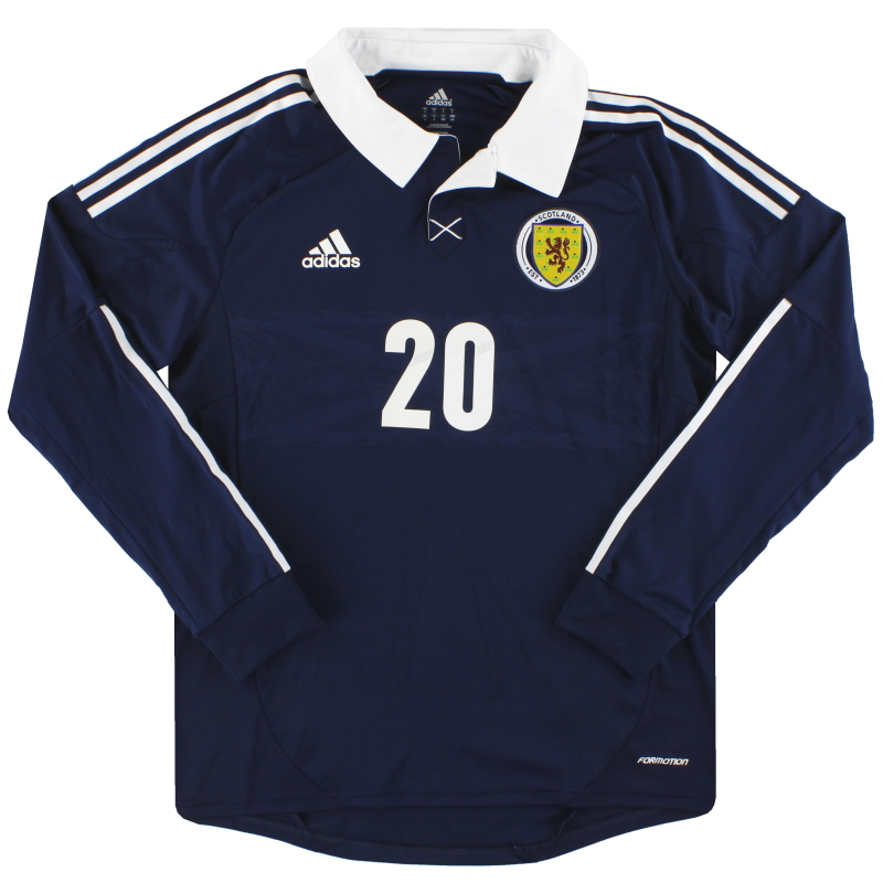 2011-13 Scotland adidas Player Issue Home Shirt #20 L/S S - X11930