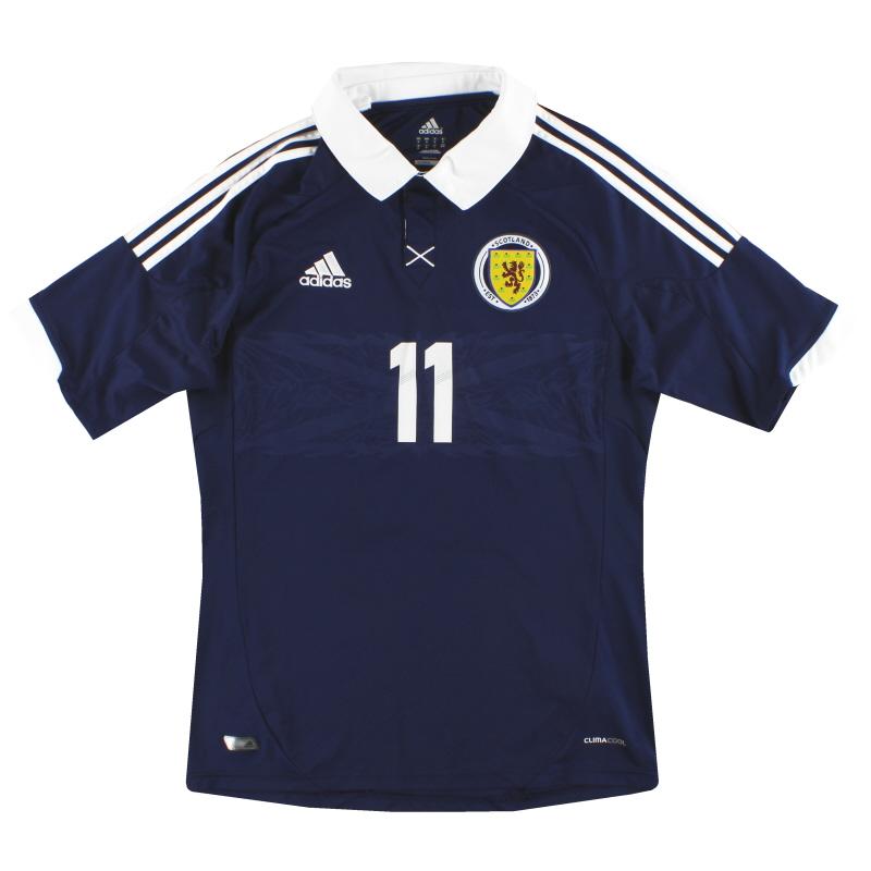 2011-13 Scotland adidas Player Issue Home Shirt #11 M - X11809