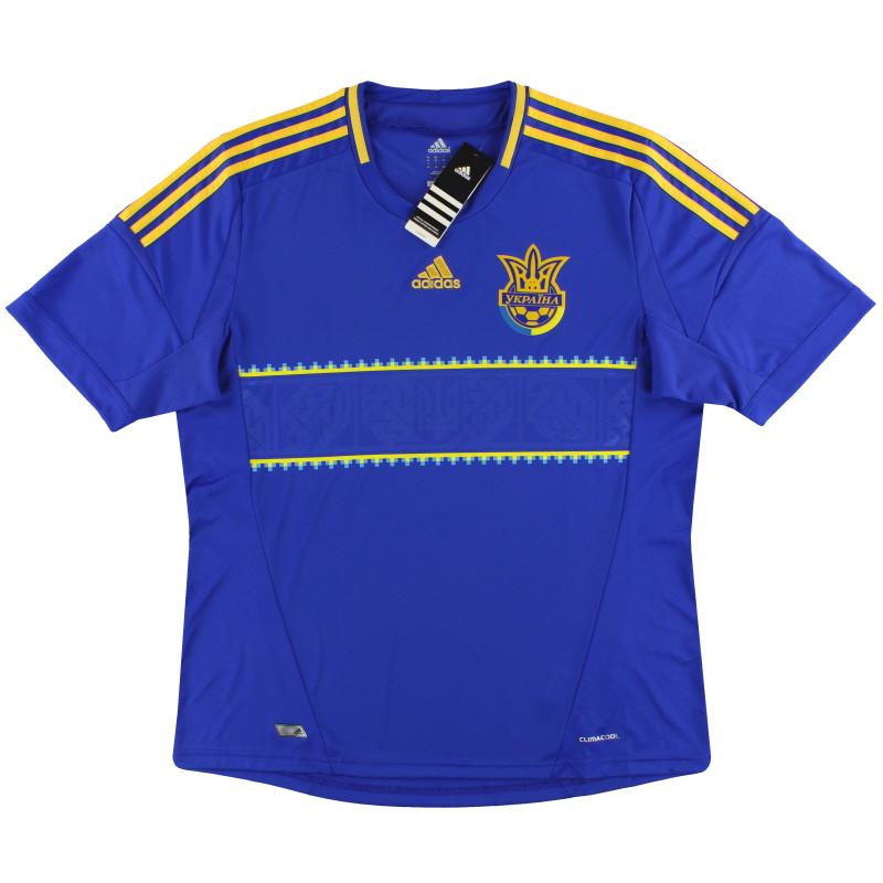 2011-13 Ukraine adidas Away Shirt *w/tags* S - X11605