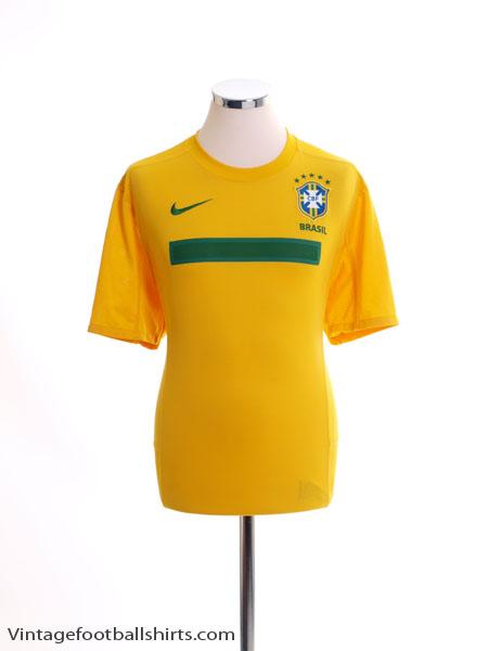2011 Brazil Home Shirt *Mint* L
