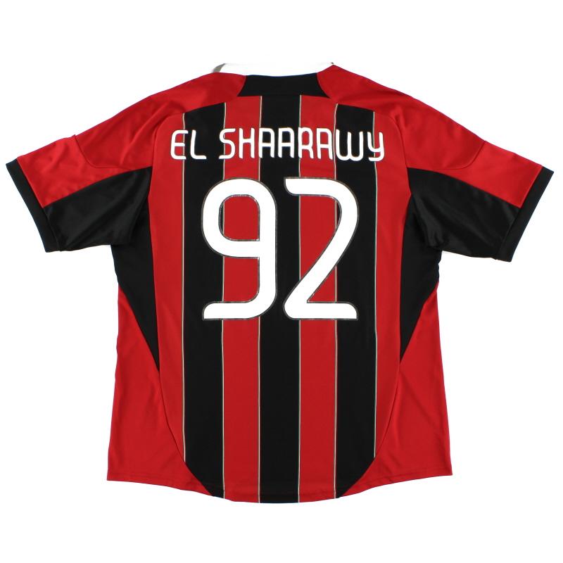 2012-13 AC Milan Home Shirt El Shaarawy #92 XL - X23680