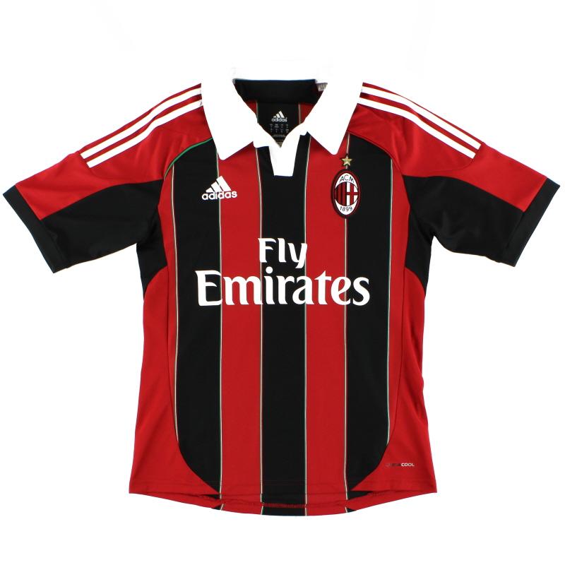 2012-13 AC Milan adidas Home Shirt *Mint* Y