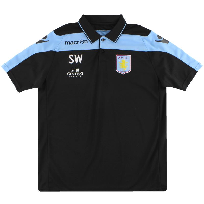 2012-13 Aston Villa Player Issue Macron Polo Shirt *Mint* XL