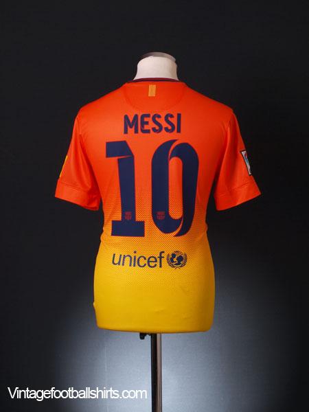 2012-13 Barcelona Away Shirt Messi #10 S