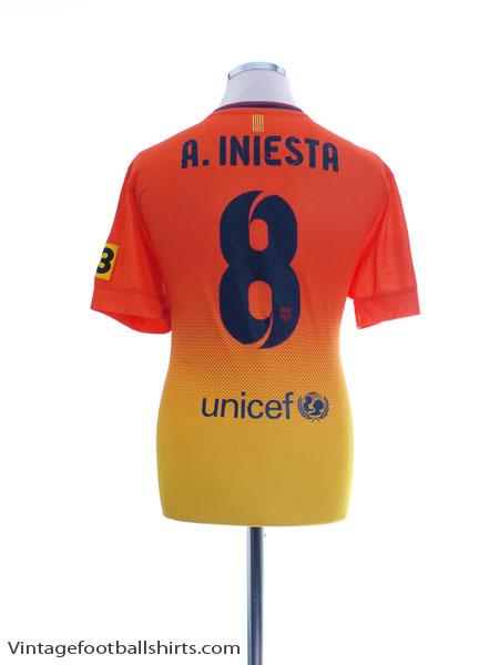 2012-13 Barcelona Away Shirt A. Iniesta #8 M - 478326-815