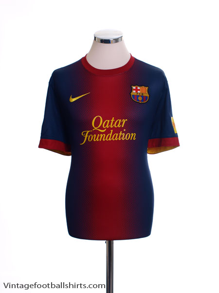 2012-13 Barcelona Home Shirt *Mint* L