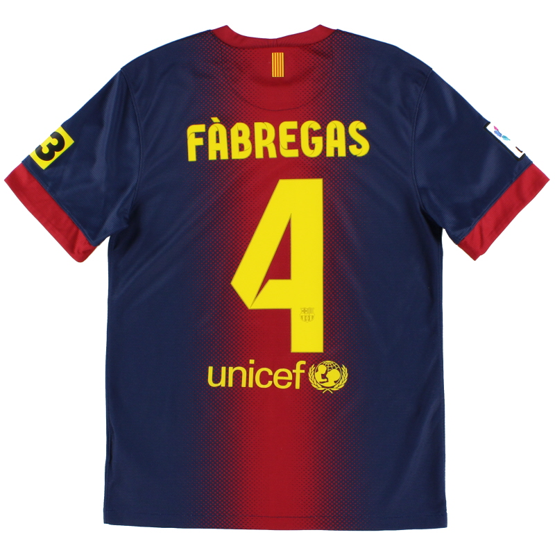 2012-13 Barcelona Home Shirt Fabregas #4 S - 478323-410