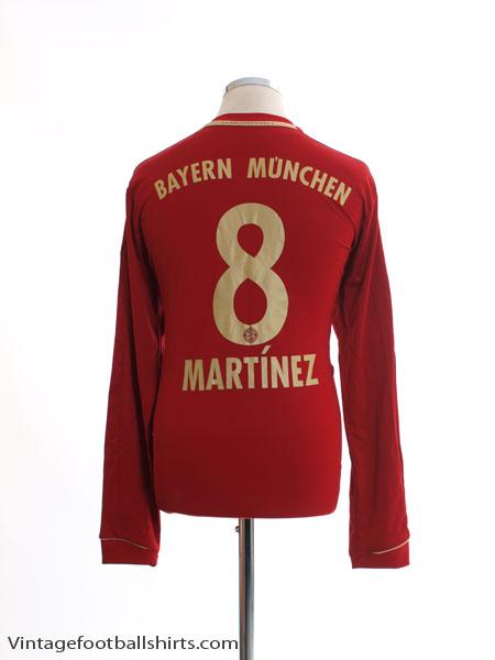 2012-13 Bayern Munich Home Shirt Martinez #8 L/S L