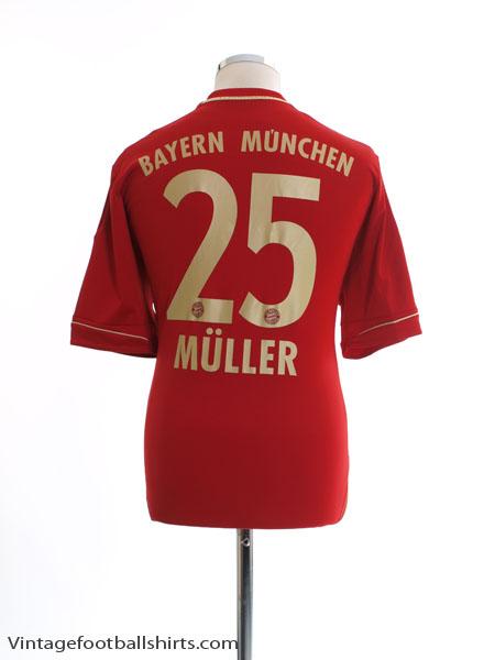 2012-13 Bayern Munich Home Shirt Muller #25 L