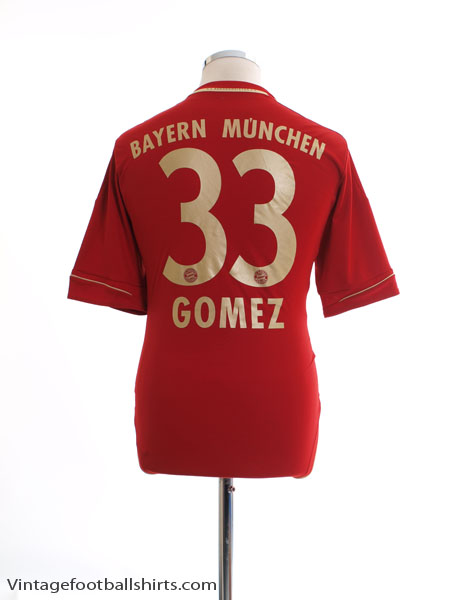 2012-13 Bayern Munich Home Shirt Gomez #33 L - V13554