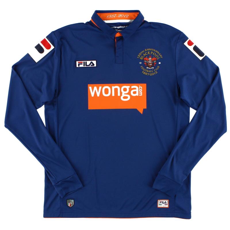 2012-13 Blackpool Fila '125th Anniversary' Third Shirt L/S *Mint* M
