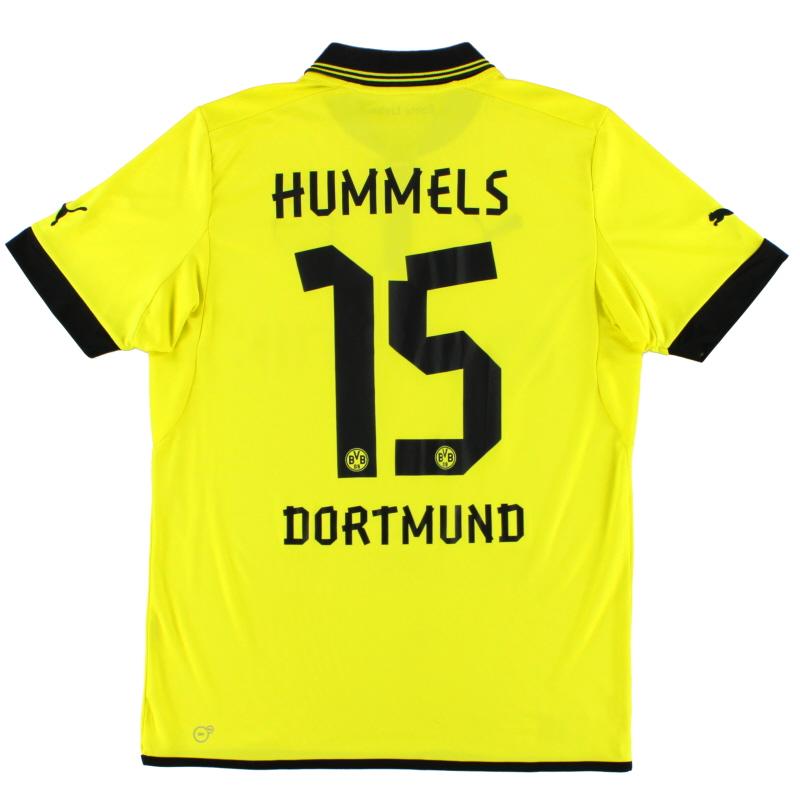 2012-13 Borussia Dortmund Home Shirt Hummels #15 L