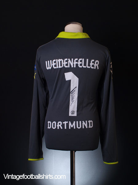 2012-13 Borussia Dortmund Match Issue Signed Goalkeeper Shirt Weidenfeller #1 XL