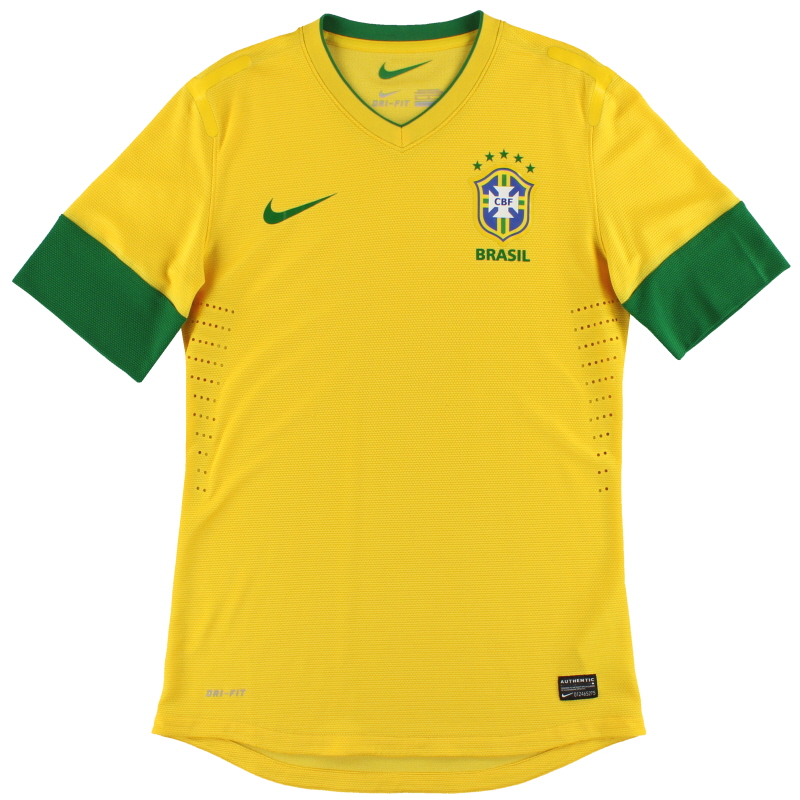 2012-13 Brazil 'Authentic' Nike Home Shirt M - 447930-703