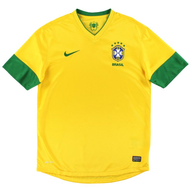 2012-13 Brazil Nike Home Shirt M - 447931-703