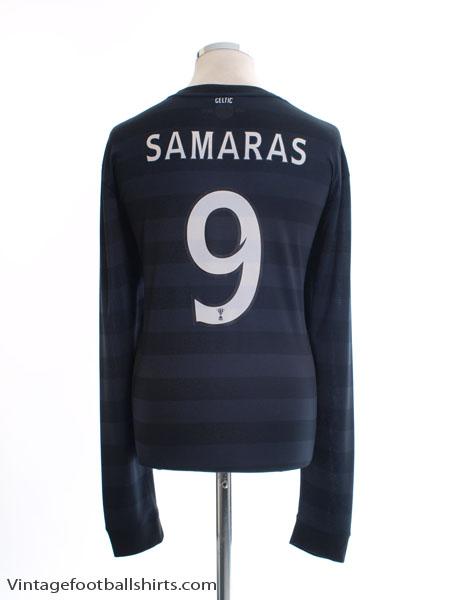 2012-13 Celtic Away Shirt Samaras #9 L/S XL