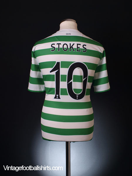 2012-13 Celtic Player Issue Home Shirt Stokes #10 *Mint* XL