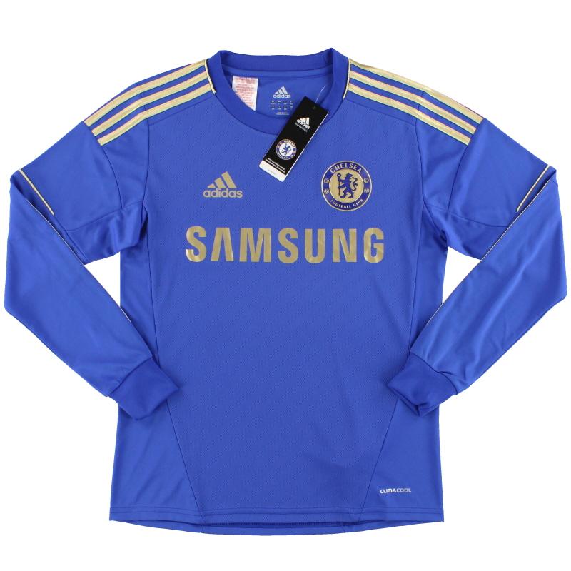 2012-13 Chelsea adidas Home Shirt L/S *w/tags* XL.Boys - W38454