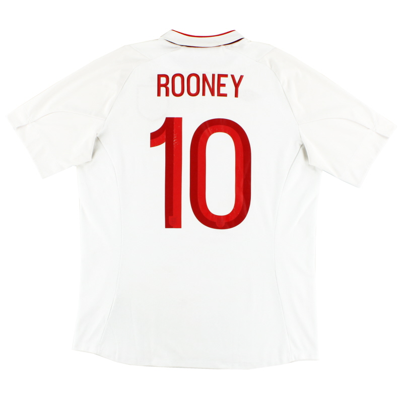 2012-13 England Home Shirt Rooney #10 L