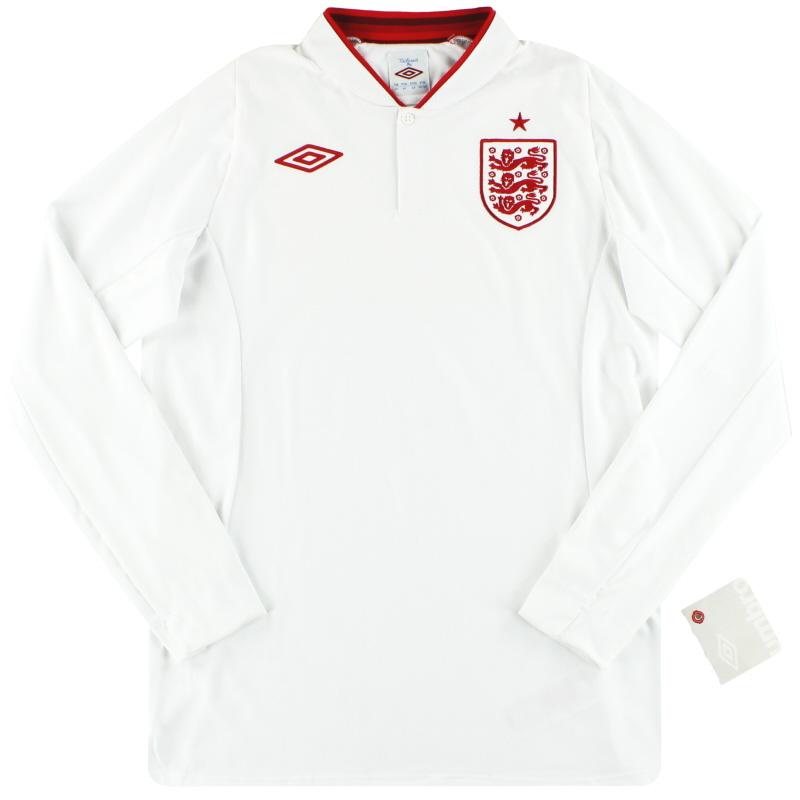 "2012-13 England Umbro Home Shirt *w/tags* (44"") L/S L - 371164-01"