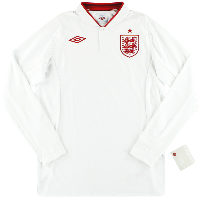 "2012-13 England Umbro Home Shirt *w/tags* (46"") L/S XL - 371164-01"