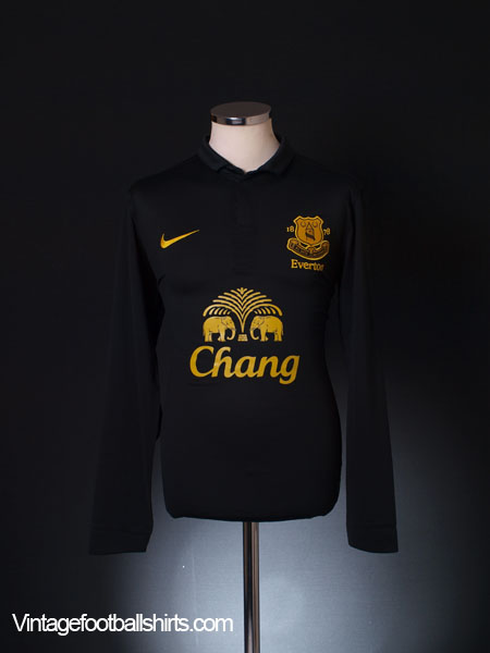 2012-13 Everton Away Shirt L/S M