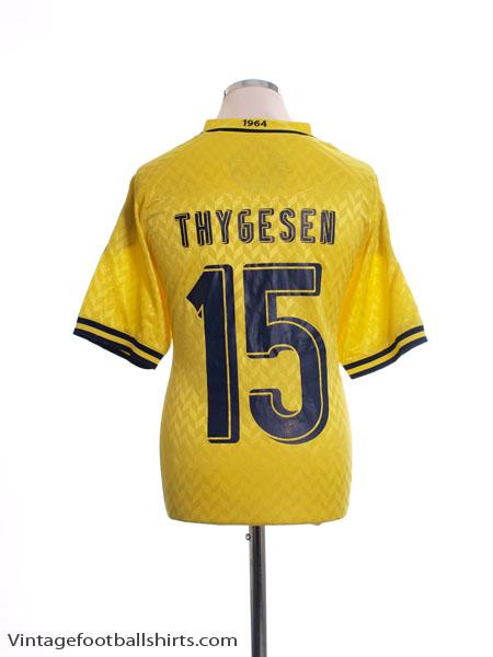 2012-13 FC Brondby Match Issue Home Shirt Thygesen #15 XL
