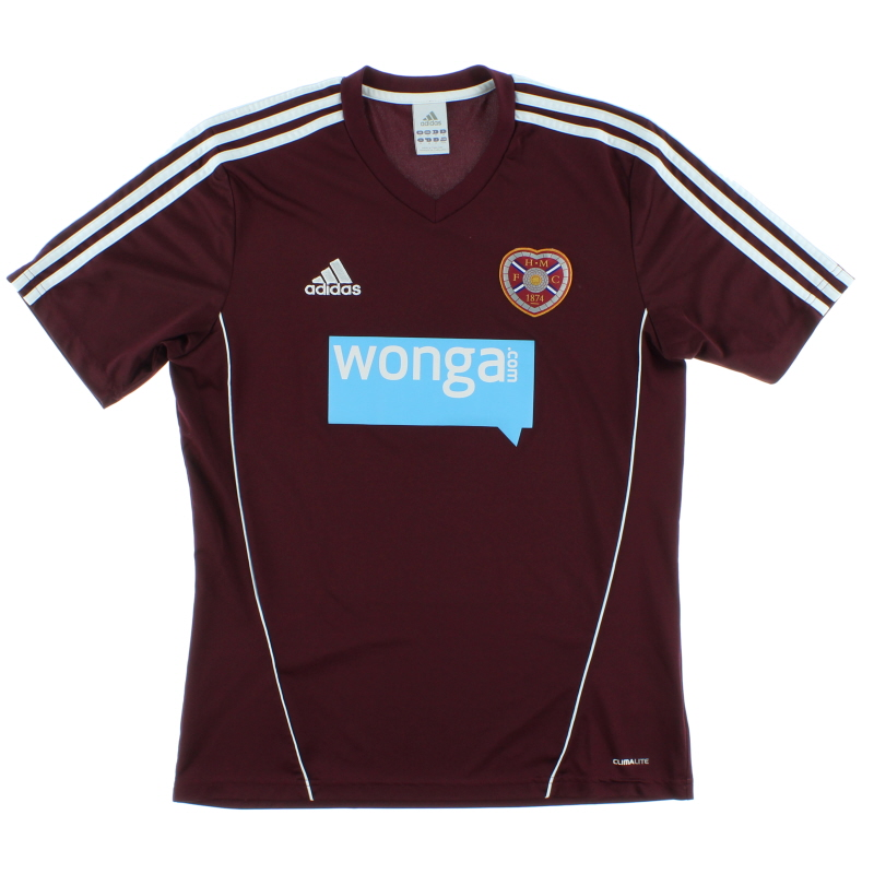 2012-13 Hearts Home Shirt M