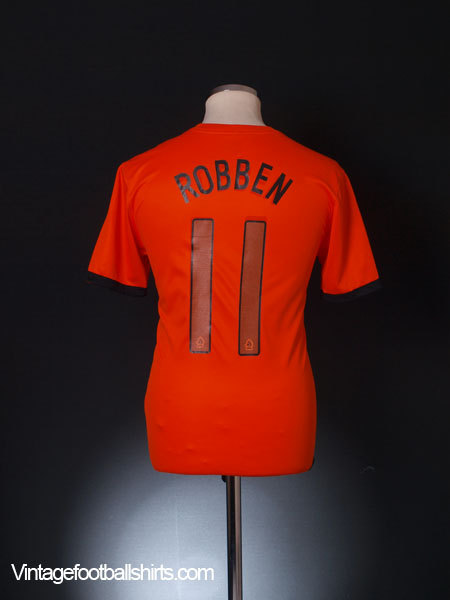 2012-13 Holland Home Shirt Robben #11 S