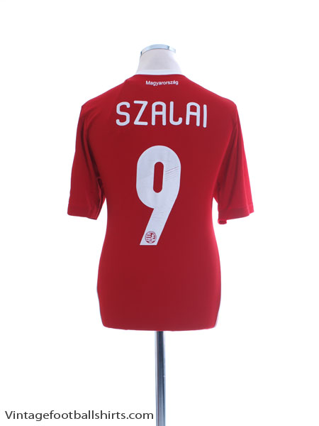 2012-13 Hungary Squad Home Shirt Szalai #9 *w/tags* M - Z20621
