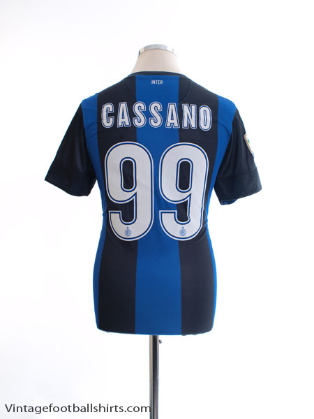 2012-13 Inter Milan Home Shirt Cassano #99 S